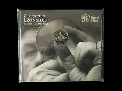 2013 Royal Mint Christopher Ironside Royal Arms BU 50p Fifty Pence Pack Unopened