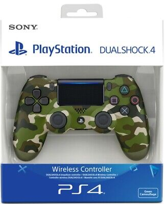 Official Sony PS4 DualShock 4 V2 Wireless Controller - Green Camo - Brand New