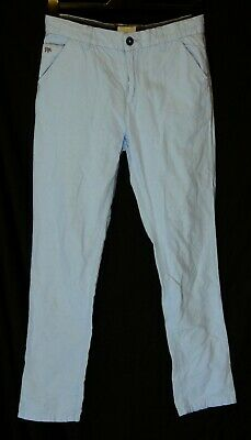 Boys Jasper Conran Sky Blue Adjustable Smart Casual Chino Trousers Age 13 Years