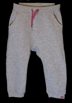 Baby Girls H&M Grey Marl Textured Cuffed Comfy Joggers Trousers Age 18-24 Months