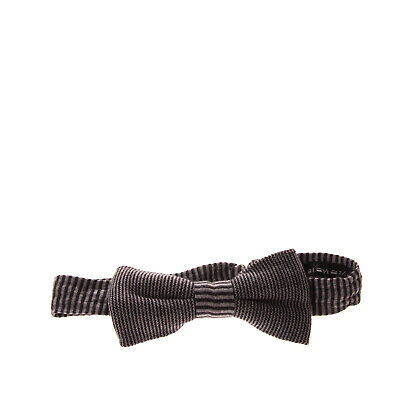 ARMANI COLLEZIONI Wool Bow Tie Striped Hook Closure Knitted Made in Italy