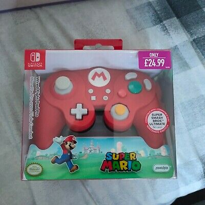 Nintendo Switch Super Mario Pdp Controller Wired Fight Pad Pro Red