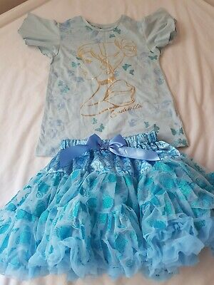 Girls Disney Store Cinderella Age 7-8 Years Top T-Shirt outfit bnwot