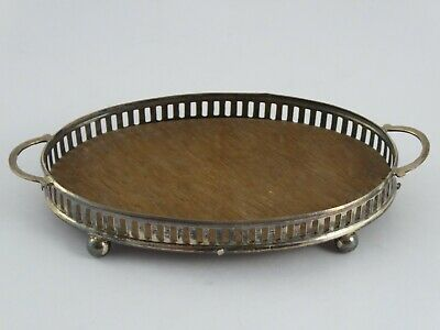 Edwardian Miniature Solid Sterling Silver Gallery Tray Saunders & Shepherd 1905
