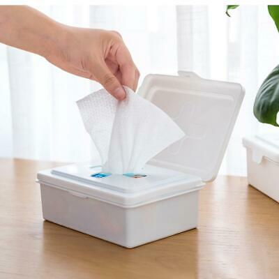 Wet Wipes Dispenser Holder Tissue Storage Box Case with Lid Home Stores Office
