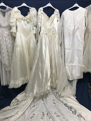 JOBLOT x 5 VINTAGE WEDDING DRESSES .PARTY PROM FANCY DRESS SHOP BRIDESMAID #2