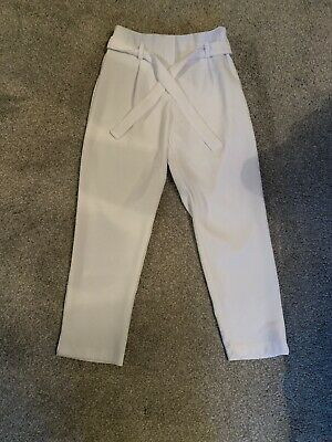 Girls River Island White Trousers Age 10 Years