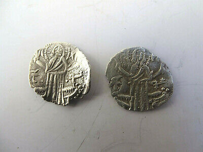 Ancient Byzantine silver coins 2 pieces