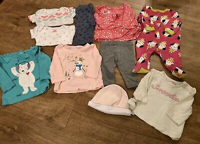 Baby Girls Clothes Bundle 0-3 Months Outfit Hat Tops Bodysuit Sleeper (5)