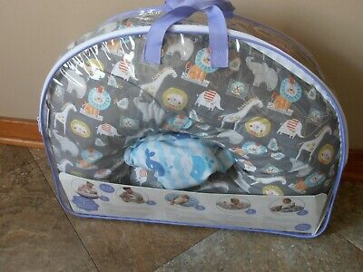 Boppy Slicover Feeding And Infant Support Pillow W/Extra Cover