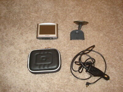 tomtom one sat nav complete with car charger , case and window mount - WORKING