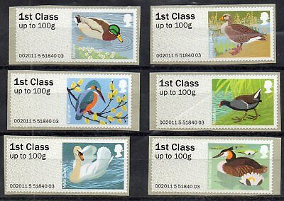 GB QE II 2011 FS16 Birds of Britain Post and Go S/A set of 6 1st class MNH