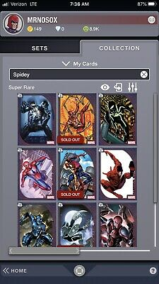 Topps Marvel Collect Account Reserve + Ultimate + Spidey Suits First Print Set +
