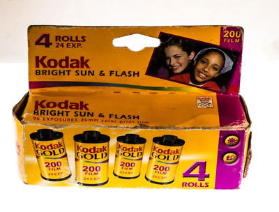 4 rolls of Kodak Gold 24 exposure 200 35mm film in original package