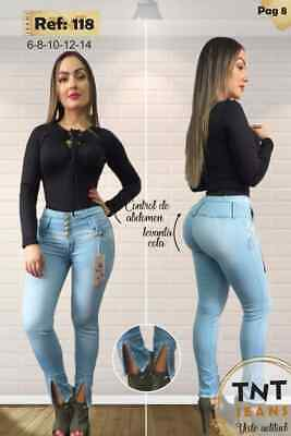 JEANS COLOMBIANOS TN118 Authentic Colombian Push Up Jeans, Jean Levanta Cola
