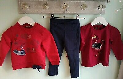 Baby Girls Pretty Top Sweatshirt & Leggings Outfit Mixed Brands Size 12-18 Month