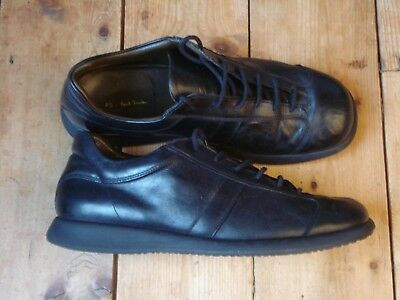 PAUL SMITH mens trainers RRP £225 size UK8 EU42 black leather