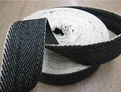 Upholstery Grade Black And White Herringbone Webbing 30metre Roll - 5 Available.