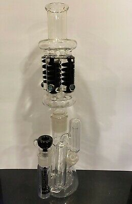 Zero Freezable Coil Glass Coil Perc and Ash Catcher Water Pipe Bong US Seller