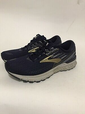Brooks Mens Adrenaline Gts 19 Navy/Gold/Grey Running Shoes Size 10