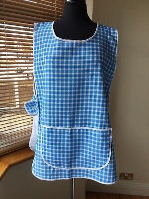 Ladies Apeon Overall Tabard Pinny Size OS 14/18 Blue Check
