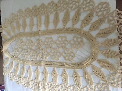 Vintage Unusual Linen, Hand Embroidered Table cover , perfect condition Unused /