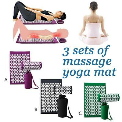 Acupuncture Massage Yoga Mat Relief Body Stress Pain Acupressure Cushion Pads