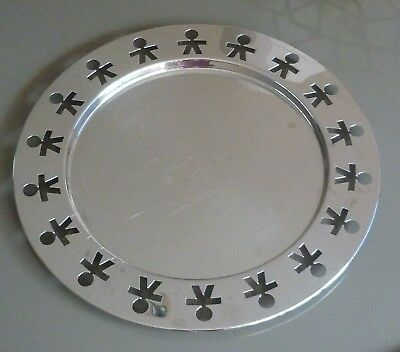 Alessi King Kong Silver Round Tray