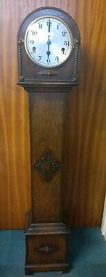 Art Deco 8 Day Westminster Chimes Grandmother Clock Good Working Order