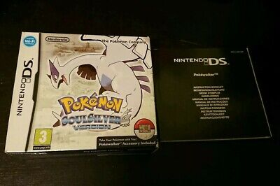 100% ORIGINAL BIG BOX & MANUAL ONLY for Pokemon SoulSilver Nintendo DS (NO game)