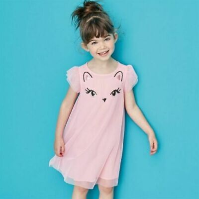 AVON Kids Sequin Girls Cute Pink Cat Character Party Dress Age 3 - 4 Years NEW
