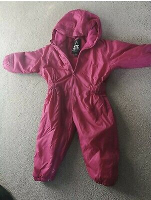 JTC pink snowsuit windproof waterproof hooded one PIECE. Age 2 years