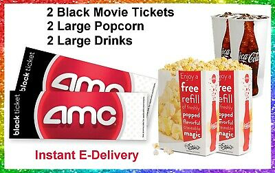 1 Amc Black  Movie Ticket.  Valid at AMCTheaters Nationwide. Delivered Instantly