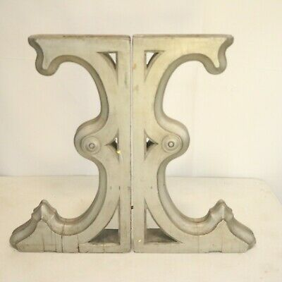 Antique Victorian Architecture Wood Corbels Distressed Farmhouse Brackets
