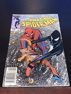 1984 AMAZING SPIDER-MAN #258 1st Black Suit revealed as Symbiote Fine+ NEWSSTAND
