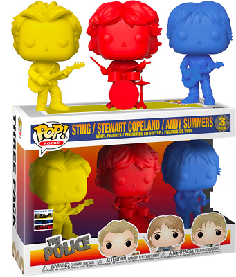 The Police - Sting, Stewart Copeland & Andy Summers 3PK FUNKO POP VINYL FIGURE