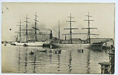 1907 Rp Postcard Port Adelaide Ship Dimsdale Princes Wharf Adelaide Milling G80