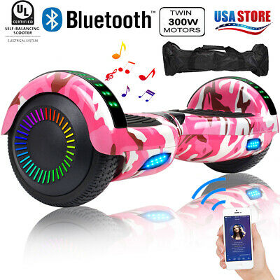 6.5inch Bluetooth Hoverboard with LED Kids Gift Self Balancing Scooter Bag Pink
