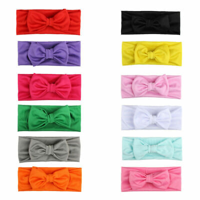 Baby Girls Kids Toddler Bow Hairband Headband Stretch Turban Knot Head Wrap Head