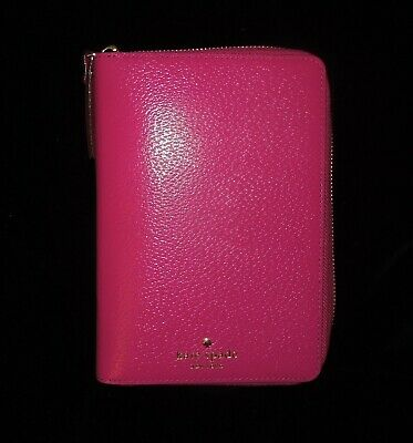 Kate Spade Deep Pink Leather Planner Agenda Organizer