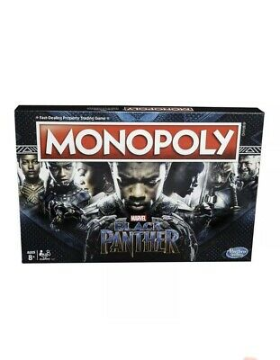 Black Panther Monopoly Game Board Games Limited Edition Marvel Monopoly Game