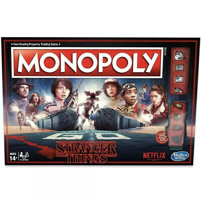 Monopoly Stranger Things Edition Board Game Limited Edition Monopoly  Netflix