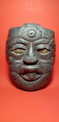 Pre-Columbian serpentine chac  mayan  mask  700AD-1200AD