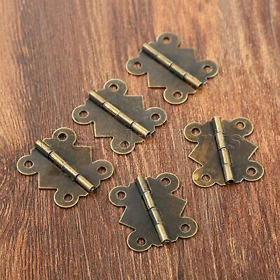 Retro Butterfly Cabinet Door Hinges Dollhouse Jewelry Gift Box Drawer Hinges 20x