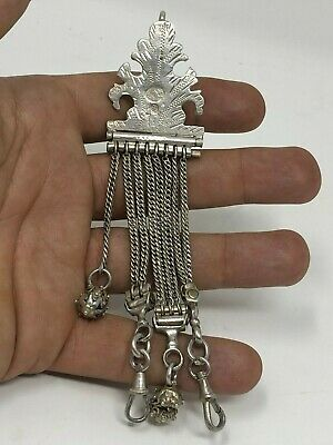 Tughra Rare Antique Chatelaine Turkish Ottoman Silver Silver Turkish Oriental
