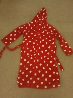 Girls Fleece Hooded Dressing Gown Age 11-12 hardly worn great condition