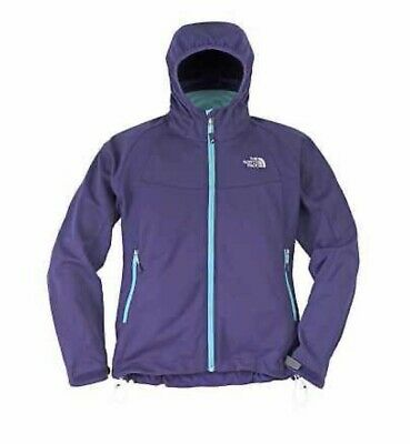 North face Womens Softshell Jacket XS 8 Purple Cipher Hybrid Ladies Fitted