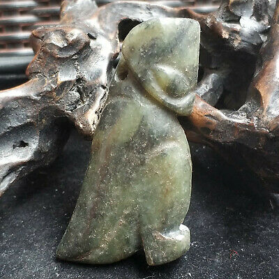 Ancient Chinese Red Mountain Culture Old Jade Beast Amulet Pendant