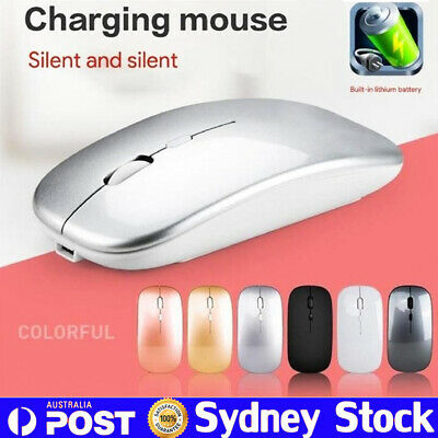 Ultra-Thin Bluetooth Wireless Rechargeable Mouse Optical Cordless Mice 1600 DPI