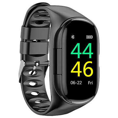 Lemfo M1 Newest Ai Smart Watch With Bluetooth Earphone Heart Rate Monitor S Y2U6